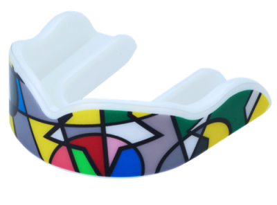 "Premium Custom Design ""Picasso"" Boil and Bite Sports Mouth Guards (With Free Case)"