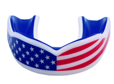 Oral Mart USA Flag Mouth Guard - American Flag Mouthpiece