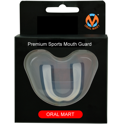 White Black Mouth Guard Case