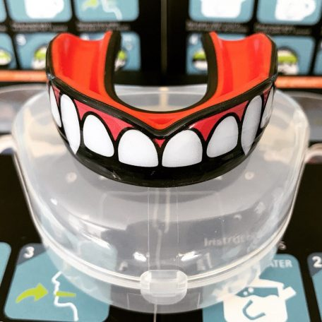 sports mouth guard with fang