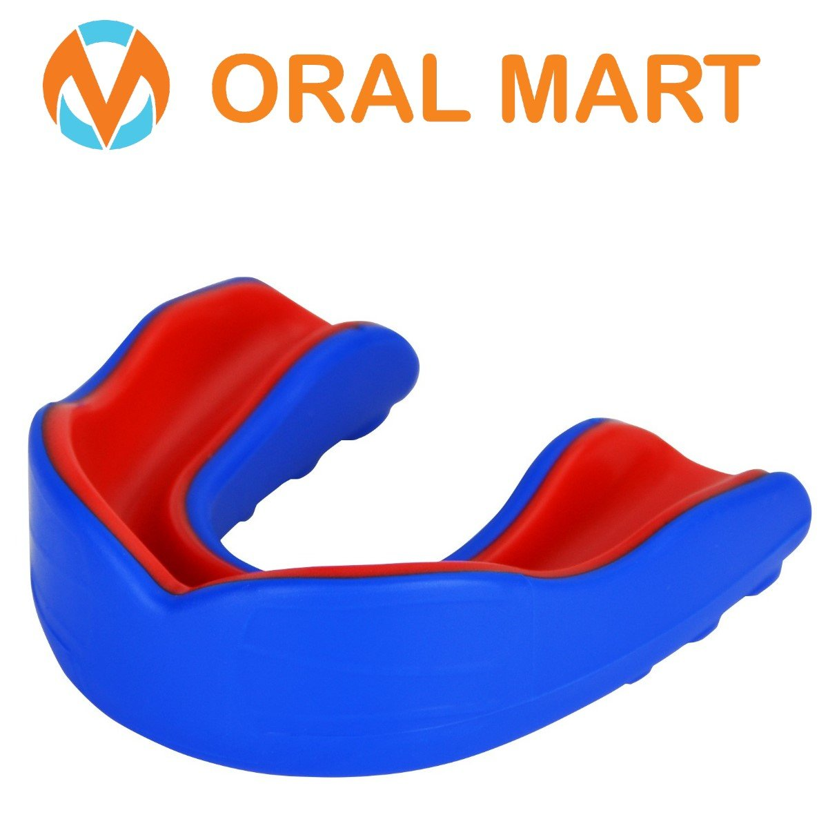 Blue Red sports mouth guard for adults