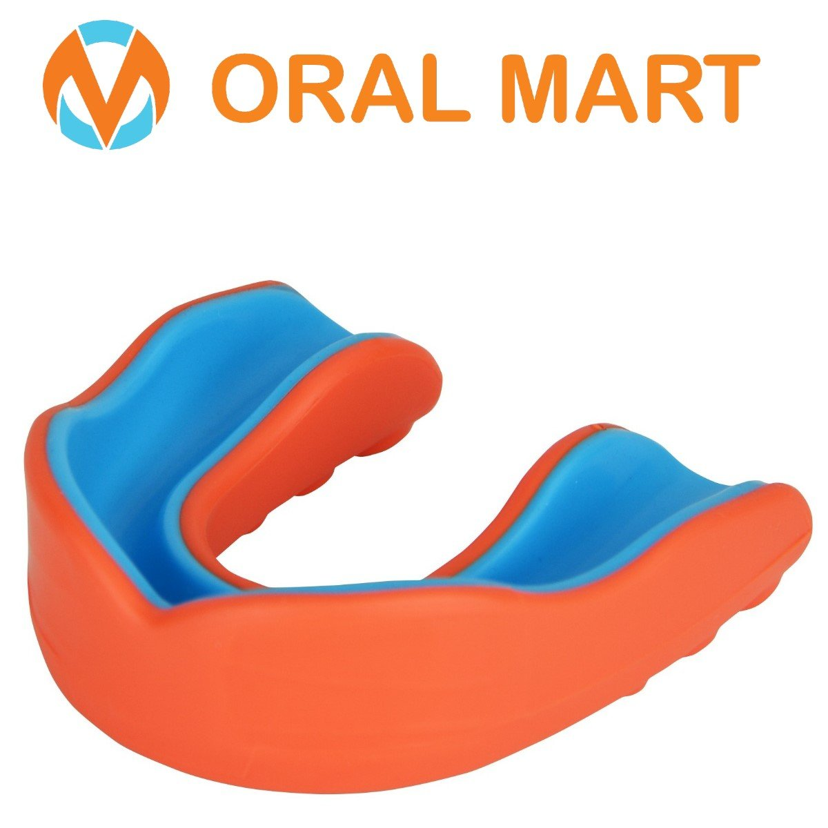 Orange Blue Sports mouth guard