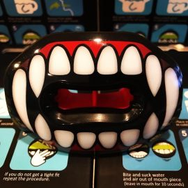 vampire fangs football lip guard