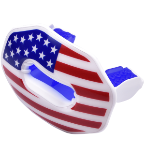 American flag lip guard mouthpiece