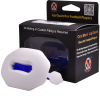football lip guard mouthpiece white and blue