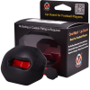 football lip protector black & red