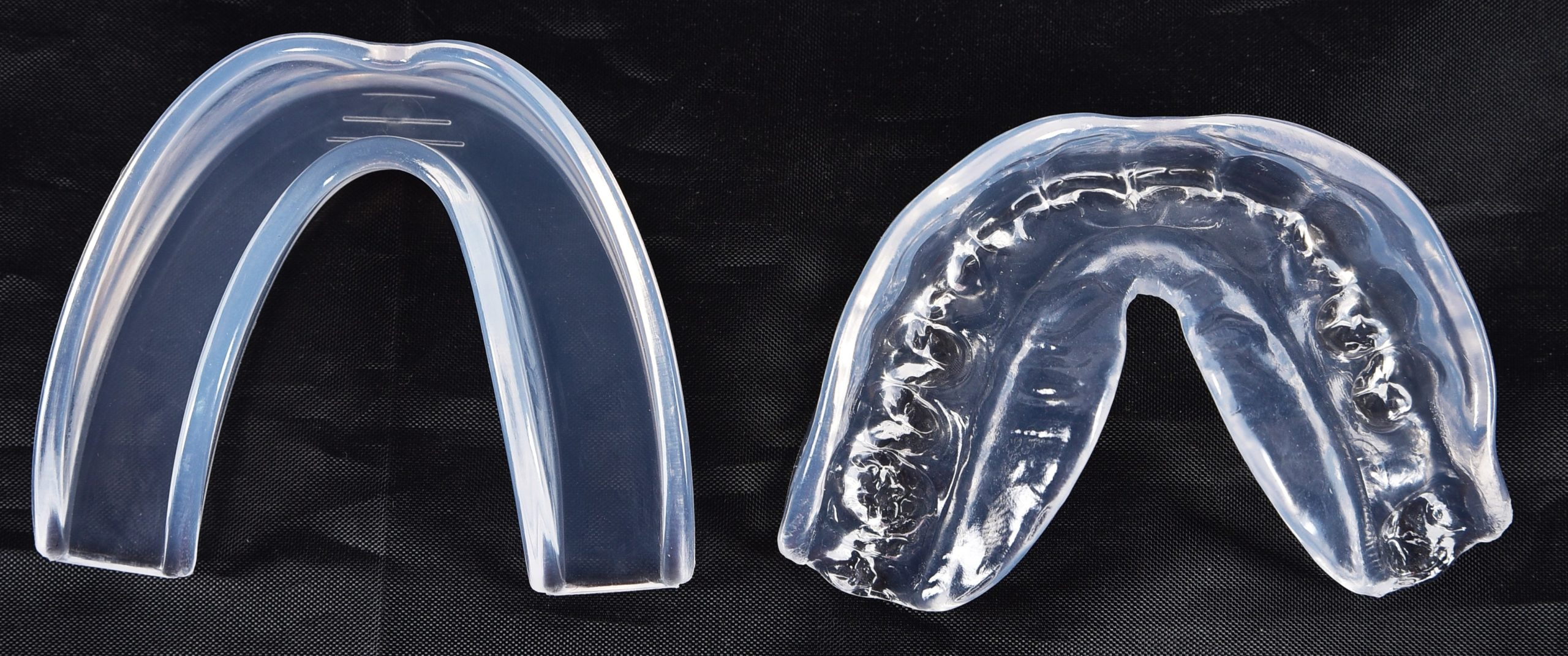 how to fit clear mouth guard before and after